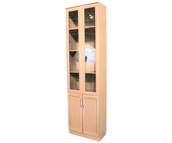 Купить мегаэлатон книжный шкаф верона-1, 30х30х220 см, 1 сек.